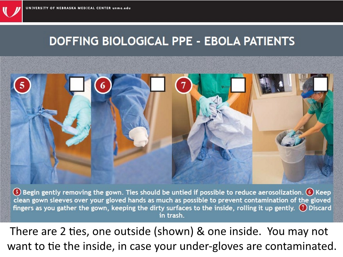 doffing surgical gown