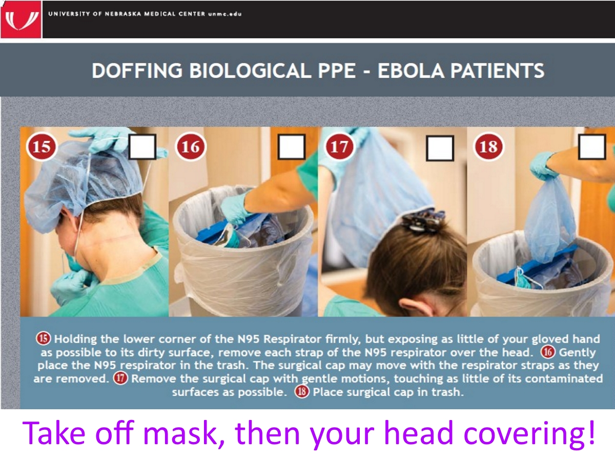 doffing surgical cap