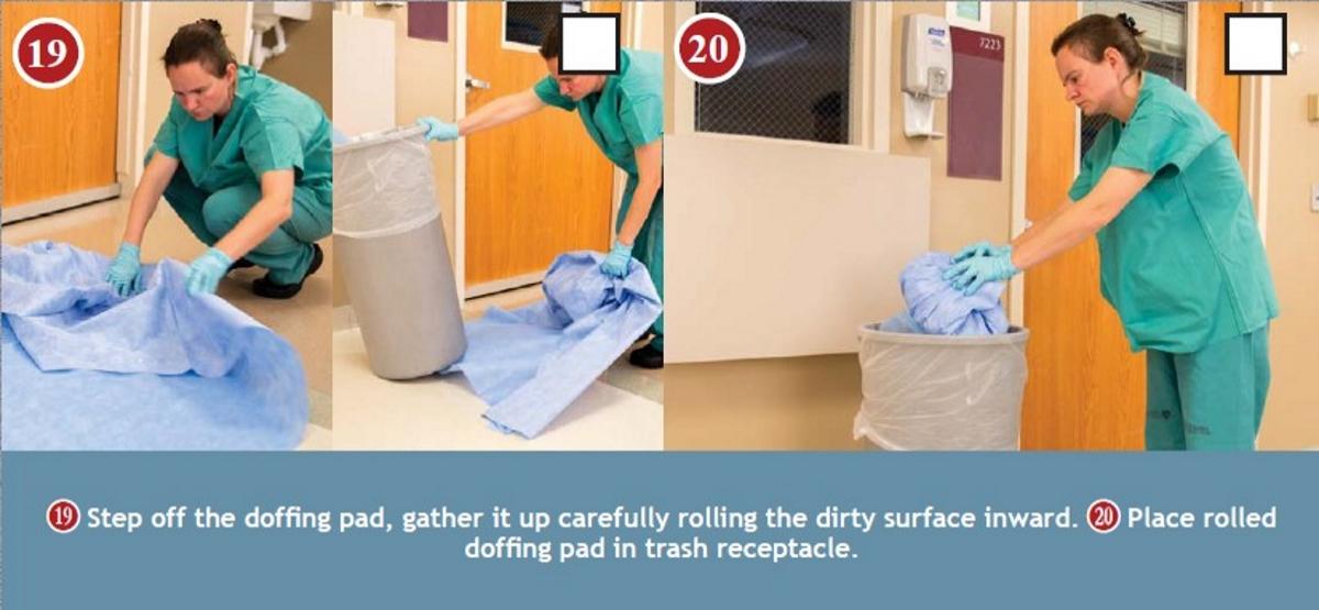 doffing floor pad