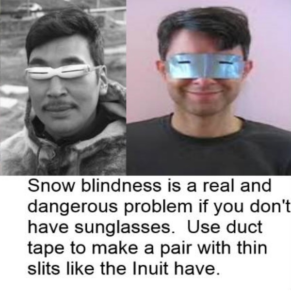 snow blindness